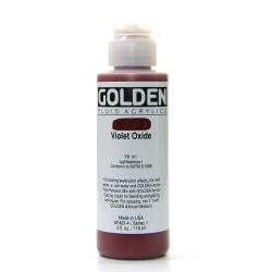 Golden Fluid Acrylic Paint, 4 Oz, Violet Oxide