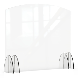 "Rosseto Serving Solutions Avant Guarde Acrylic Sneeze Guard, 48"" x 40"", Clear"