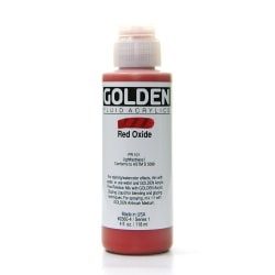 Golden Fluid Acrylic Paint, 4 Oz, Red Oxide