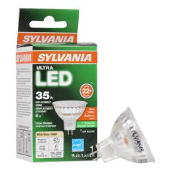 Sylvania LEDvance MR16 Dimmable 425 Lumens LED Light Bulbs, 6 Watt, 3000 Kelvin/Warm White, Case Of 6 Bulbs