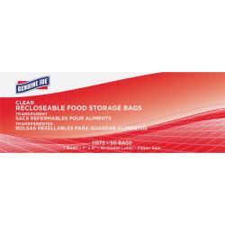 Genuine Joe Food Storage Bags - 1 quart - 1.75 mil (44 Micron) Thickness - Clear - 50/Box - 50 Per Box - Food