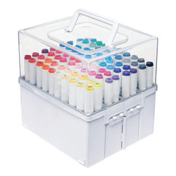 """Deflecto Expandable Marker Accordion, 8-1/2""""H x 8-5/8""""W x 7-1/2""""D, White/Clear"""