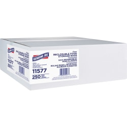 Genuine Joe Food Storage Bags - 1 gal - 1.75 mil (44 Micron) Thickness - Clear - 250/Box - Food, Beef, Vegetables, Seafood, Poultry