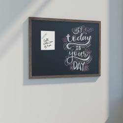 U Brands Magnetic Chalkboard, 48 X 36, Brown Rustic Décor MDF Frame