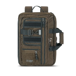 "Solo Zone Hybrid Briefcase With 15.6"" Laptop Pocket, 12""H x 17""W x 3""D, Khaki"