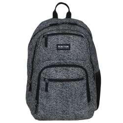 "Kenneth Cole Reaction Polyester Double Gusset Computer Backpack With 15.6"" Laptop Pocket, Herringbone"