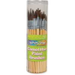 Creativity Street Camel Hair Paint Brushes - 72 Brush(es) - Aluminum Ferrule
