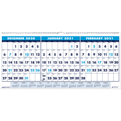 House of Doolittle 14-Month Horizontal Wall Calendar, Multicolor, December 2020 to January 2022