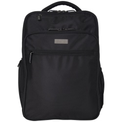"Kenneth Cole Reaction Brooklyn Commuter Business Backpack With 16"" Laptop Pocket, Black"