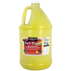Sargent Art® Art-Time Washable Tempera Paint, 1 Gallon, Yellow