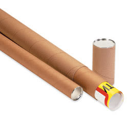 """Office Depot® Brand 3-Piece Telescopic Mailing Tubes, 3"""" x 42"""", 80% Recycled, Kraft, Pack Of 25"""