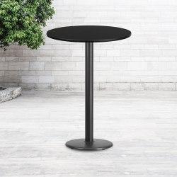 "Flash Furniture Round Bar-Height Table, 43-1/8""H x 30""W x 30""D, Black"