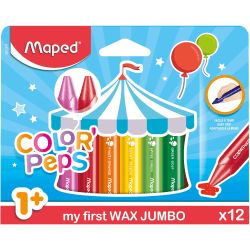 Helix Color Peps My First Wax Jumbo Crayons - Assorted - 12 / Pack