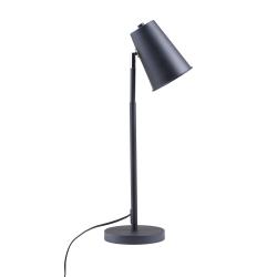 "Southern Enterprises Wylie LED Table Lamp, 23-1/2""H, Black Shade/Black Base"
