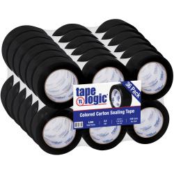 """Tape Logic® Carton Sealing Tape, 2"""" x 110 Yd., Black, Case Of 36"""