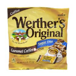 Werther's Original Sugar-Free Caramel Coffee Hard Candies, 2.75 Oz, Pack Of 3 Bags