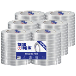 """Tape Logic® 1300 Strapping Tape, 1/2"""" x 60 Yd., Clear, Case Of 72"""