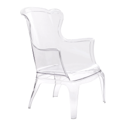 Zuo Modern Vision Occasional Chair, Clear