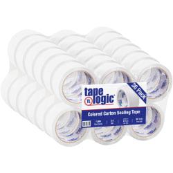 """Tape Logic® Carton Sealing Tape, 2"""" x 55 Yd., White, Case Of 36"""