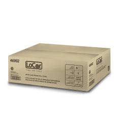 "LoCor 1-Ply Hard Roll Paper Towels, High-Capacity, 7"", White, 1,000' Per Roll, Carton Of 6 Rolls"