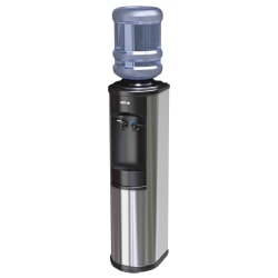 "Oasis® Artesian Cook N' Cold Floorstand Bottle Water Dispenser, 38 1/8""H x 12""W x 12 1/2""D, Stainless"