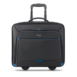 "Solo® Active 16"" Rolling Overnighter Case, Black/Blue"