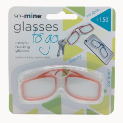SO-MINE Glasses On The Go Keychain Mobile Reading Glasses, Assorted Colors