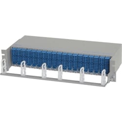 """Omnitron Systems 19"""" Cable Management Tray - 1U Rack Height - 19"""" Panel Width"""