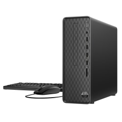 HP Slim S01-aF0056 Desktop PC, AMD Athlon, 8GB Memory, 1TB Hard Drive, Windows® 10 Home, 9EF25AA#ABA