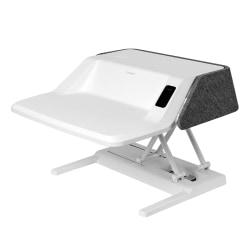 FlexiSpot EM6W Motorized Sit-Stand Desk Converter, White