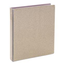 "Office Depot® Brand Fashion Binder, 1"" Rings, Gold Glitter"