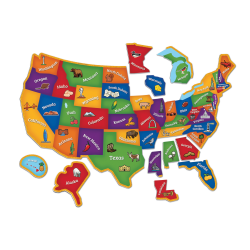 Learning Resources Magnetic U.S. Map Puzzle, Pre-K - Grade 4