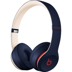 Beats by Dr. Dre Solo3 Wireless Headphones - Beats Club Collection - Club Navy - Stereo - Wireless - Bluetooth - Over-the-head - Binaural - Circumaural - Navy