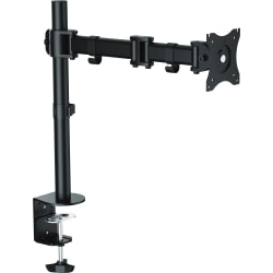 """Lorell Active Office Mounting Arm for Monitor - Black - 1 Display(s) Supported32"""" Screen Support"""