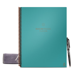 """Rocketbook Fusion Letter Size Notebook, 8-1/2"""" x 11"""", 42 Pages, Teal"""
