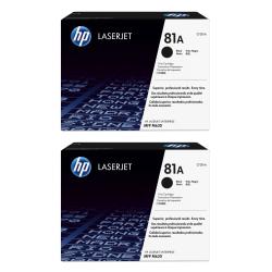 HP LaserJet 81A Black Toner Cartridges (CF281A), Pack Of 2 Cartridges