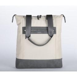 "Targus® Newport 3 North/South Nylon Tote With 15"" Laptop Pocket, 11-15/16""H x 19""W x 1-13/16""D, Tan"