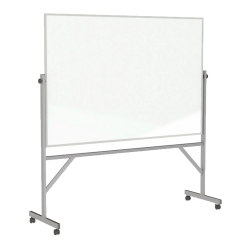 "Ghent Reversible Magnetic Whiteboard, 48"" x 96"", Silver Aluminum Frame"