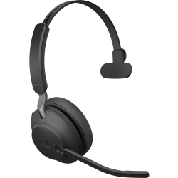 Jabra Evolve2 65 Ms Mono Headset On Ear Convertible Bluetooth Wireless Usb A Noise Isolating Black With Charging Stand Office Depot