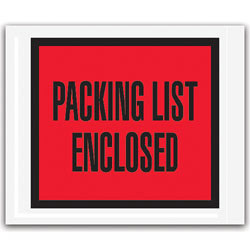 """Office Depot® Brand """"Packing List Enclosed"""" Envelopes, Full Face, Red, 4 1/2"""" x 6"""" Pack Of 1,000"""