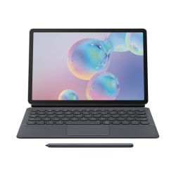 Samsung Keyboard Cover EF-DT860 - Keyboard and folio case - with touchpad - POGO pin - gray - for Galaxy Tab S6
