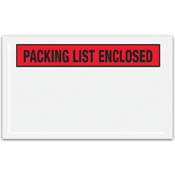 """Office Depot® Brand """"Packing List Enclosed"""" Envelopes, Panel Face, Red, 4 1/2"""" x 7 1/2"""" Pack Of 1,000"""