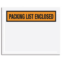 "Office Depot® Brand ""Packing List Enclosed"" Envelopes, Panel Face, Orange, 4 1/2"" x 6"" Pack Of 1,000"