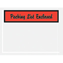 """Office Depot® Brand """"Packing List Enclosed"""" Envelopes, Panel Face, Red, , 4 1/2"""" x 6"""" Pack Of 1,000"""