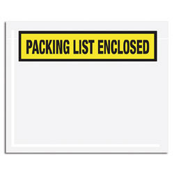"""Office Depot® Brand """"Packing List Enclosed"""" Envelopes, Panel Face, Yellow, 5 1/2"""" x 10"""" Pack Of 1,000"""