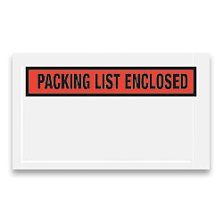 """Office Depot® Brand """"Packing List Enclosed"""" Envelopes, Panel Face, Red, 5 1/2"""" x 10"""" Pack Of 1,000"""