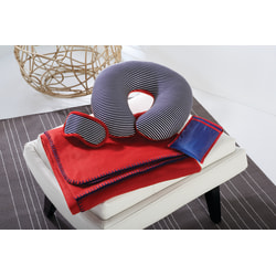 GNBI Travel In Comfort 4-Piece Set, Blue/Red