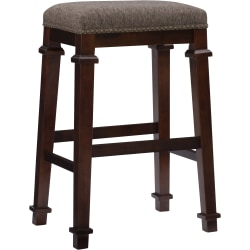 Linon Home Décor Products Marshall Backless Bar Stool, Walnut/Brown