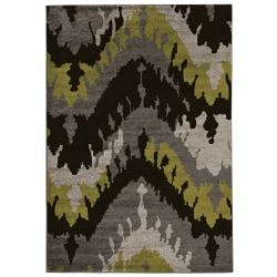"Linon Honora Area Rug, 96""H x 122""W, Largo Black/Gray"