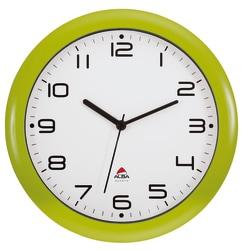 "Alba Silent Round Wall Clock, 12"" Diameter, Green"